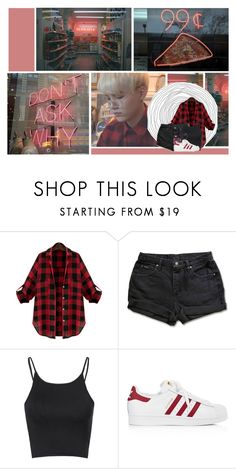 """""""Subway Car"""" by antisocial-vagabond ❤ liked on Polyvore featuring WithChic, Glamorous, adidas and The Row"""