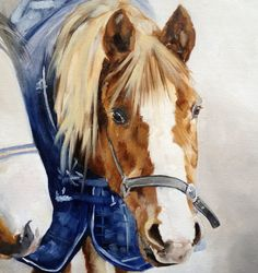 Private commission Equine Painting by Tony O'Connor whitetreestudio.ie