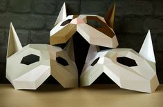 DIY Cat mask/Paper cat mask/DIY mask/Fancy от YumegamiShop на Etsy
