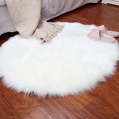 Soft Sheepskin Rug Chair Cover Artificial Wool Warm Hairy Carpet Bedroom Mat Seat Pad Skin Fur Area Rugs Warm Home Textile Fur Carpet, Carpet Mat, Plush Carpet, Brown Carpet, Rugs On Carpet, Carpet Runner, Grey Carpet, Faux Sheepskin Rug, Faux Fur Rug
