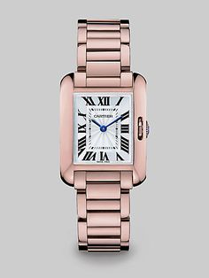 Cartier - Tank Anglaise 18K Pink Gold I am getting the stainless steel one but I wear rose gold oh the dilema's