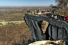 Seven States can be seen from world famous Lovers Leap at Rock City Gardens in Chattanooga, Tennessee