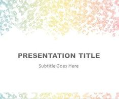 Free Colored Digits PowerPoint Template is a PowerPoint template that you can download for finance PowerPoint presentations with messed up digits and number in the slide design