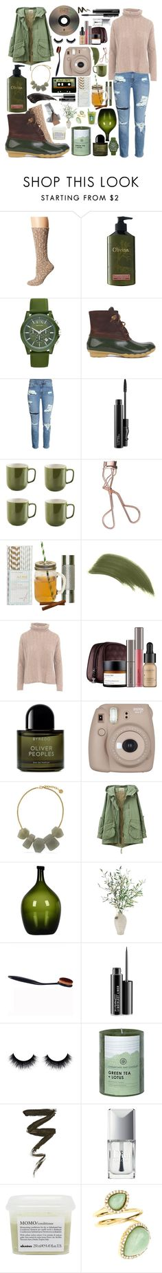 """Olive and burnt toffee, wilderness look"" by annalaris on Polyvore featuring Lauren Ralph Lauren, Olivina, Armani Exchange, Sperry, MAC Cosmetics, Price & Kensington, Charlotte Tilbury, ACME Party Box Company, By Terry and Quinn"