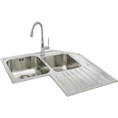 double bowl sink with drainboard | teka stainless steel double
