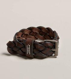 AEO Braided Leather Bracelet