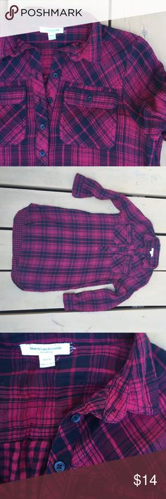 🍁✨Red and Black Plaid Flannel Dress✨🍁 Beach Lunch Lounge Collection Red and Black Plaid Flannel Dress 100% Cotton Dresses Long Sleeve