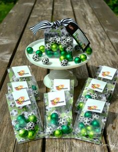 10 soccer themed treats perfect for parties, celebration or any soccer fun! | Our Three Peas