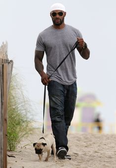 Tyson Beckford and his pug