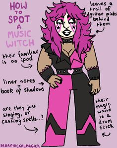 How to Spot a Music Witch! You can find this witch listening to witch house in their witch house. This witch was suggested by cat-the-brave! To see the other witches in this series, go here.