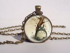 My Neighbor Totoro Necklace, Anime Jewelry, Totoro Art Pendant,  Totoro Charm