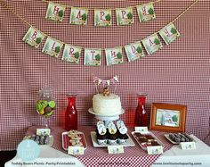 Teddy Bear's Picnic Party Printable Decorations by InviteMe2Party, $29.00