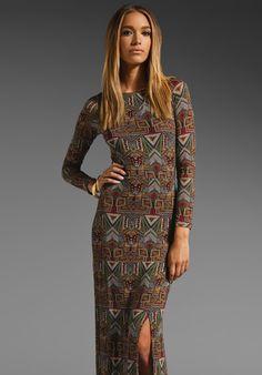 VELVET Native Daniele Maxi Dress in Maroon