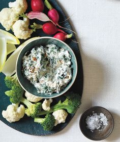 Spinach and Caramelized Onion Dip | Get the recipe: http://www.realsimple.com/food-recipes/browse-all-recipes/spinach-onion-dip-00100000089171/index.html