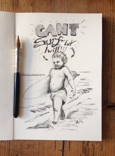 #Surf #Baby #Sketch #Sketching