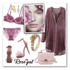 """Rosegal-velvet dress contest"" by ruza-b-s ❤ liked on Polyvore"