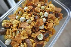Crunchy Ramen Snack Mix. This site has tons of (amazingly yummy) looking Ramen noodle recipes
