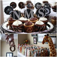 The TomKat Studio: {Project Nursery} Adorable ZOO Birthday Party! Zoo 1st Birthday Party, Twin First Birthday, Animal Birthday, Birthday Ideas, Zoo Party Themes, Safari Party, Party Ideas, Jungle Party, Party Fun
