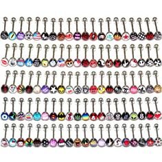 "Lot of 30 Surgical Steel Metal Tongue Rings Barbells Funny Nasty Wordings Picture Logo Signs 14G - Length 5/8"" or 16mm ~~~ READ DESCRIPTION ~~~ Direct Wholesale 4 Less,http://www.amazon.com/dp/B007VX87FO/ref=cm_sw_r_pi_dp_szjbtb1G0MSC76K3"