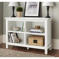 (White, Walnut and black) 10 Spring Street Burlington Collection Horizontal Bookcase, Multiple Colors - Walmart.com