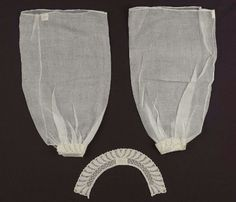 Set of collar and pair of undersleeves - mid-19th century from MFA Boston. I love these!