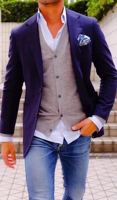 My style ! Love it ! My style ! Love it ! Mens Fashion Blazer, Suit Fashion, Fashion Outfits, Leather Fashion, Boy Fashion, Fashion Boots, Fashion Ideas, Business Casual Men, Men Casual