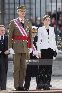 King Felipe VI of Spain and Queen Letizia of Spain attend the Pascua Militar ceremony at the Royal Palace on January 6, 2016 in Madrid, Spain.  (Photo by Victor Blanco - Pool/Getty Images)