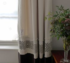 Although it may be obvious at first glance, these curtains are predominantly made from old army blankets – a good source of relatively inexpensive curtaining fabric, partly because they don't need further interlining. We stitched strips of antique broderie anglaise to the bottom of the blankets – a lovely contrast to their simplicity. To emphasise …