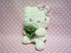 HELLO KITTY Kawaii Angel Plush Doll Xmas Ver. White Sanrio JAPAN 2007