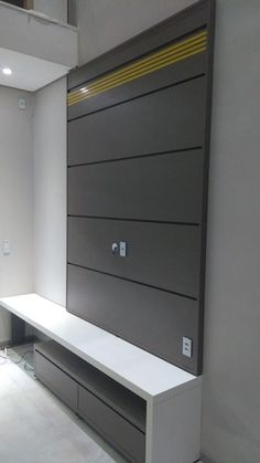 Painel Para TV - craftIdea.org Wall Unit Designs, Living Room Tv Unit Designs, Tv Wall Design, Tv Unit Decor, Tv Wall Decor, Rack Tv Modernos, Tv Cupboard Design, Tv Unit Bedroom, Tv Unit Furniture Design