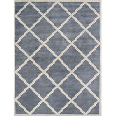 Alliyah Handmade Bluish-Grey New Zeeland Blend Wool Rug (9' x 12') | Overstock.com