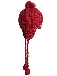 Ladies' Cable Knit Earflap Hat