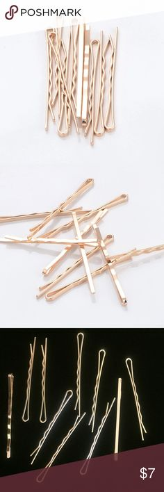 10 Piece Gold Bobby Pin Set 10 Piece Gold Bobby Pin Set Boutique Accessories Hair Accessories