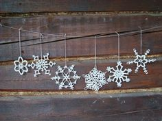 Items similar to White snowflake decoration Merry Christmas hanging ornaments Garland ornament Huge window decor Fall winter wedding Gift Crochet snowflakes on Etsy Snowflake Garland, Snowflake Decorations, Crochet Snowflakes, Christmas Snowflakes, Christmas Decorations, Christmas Ornaments, Snowflake Pattern, Christmas Christmas, Unique Christmas Gifts