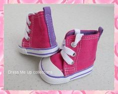 NIce! Doll Shoes Clothes Hot Pink Hi-Top Sneakers fit American Girl Dolls A44-HP