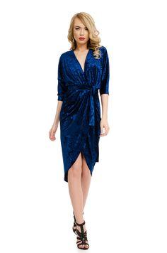 Order here www. Blue Dresses, Wrap Dress, Fashion, Moda, Fashion Styles, Fashion Illustrations, Wrap Dresses