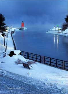 Christmas Scenery, Lighthouse Keeper, Great Pictures, North America, Michigan, Sailing, Art Photography, Fair Grounds, Mexico