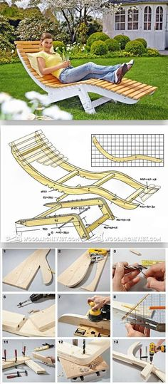 Sun Lounger Plans - Outdoor Plans and Projects | WoodArchivist.com
