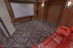 Home Theatre Home Theater, Theatre, Design Studio, Animal Print Rug, Luxury Homes, Tile Floor, Architecture, Photography, Home Decor