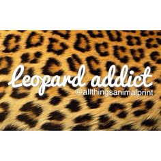 I am without a doubt a leopard addict(; <3