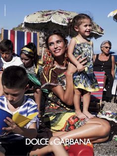 Fantastic summer beach scene and the family group from Dolce & Gabbana for summer 2013
