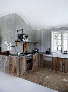 Wystrój kuchni w stylu eko