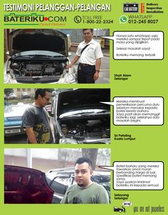 Testimonies on bateriku.com services by on-site customer. Get in touch with us for cheap car batteries or even from your location. #free delivery #inspection #installation #bateri kereta #pemasangan di lokasi #shah alam #klang valley #onsite #kuala lumpur #selangor