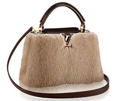"""31fe58a7b23d Louis Vuitton """"Capucine"""" Bag Brown Purses, Brown Bags, Flower Bag, Fashion"""