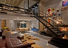 mezanino em cima da sala de jantar e cozinha - Pesquisa Google