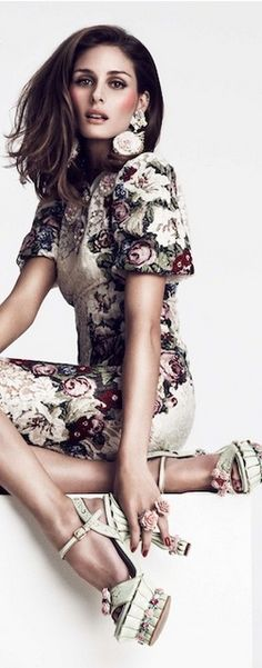 Dress, shoes, earring – Dolce & Gabbana - VOGUE Oct 2013