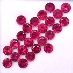 1.40 Carat Natural Ruby Faceted Round Cut 1.5mm x 1.5mm Calibrated Lots 31 Pcs Red Pink Shade Loose Gemstones For Jewelry