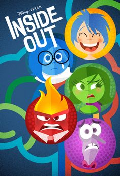 Inside Out Disney Pixar Posters - Created by Laz Marquez Disney Pixar, Disney Animation, Disney And Dreamworks, Disney Art, Animation Movies, Movie Inside Out, Disney Inside Out, Inside Out Poster, Pixar Poster