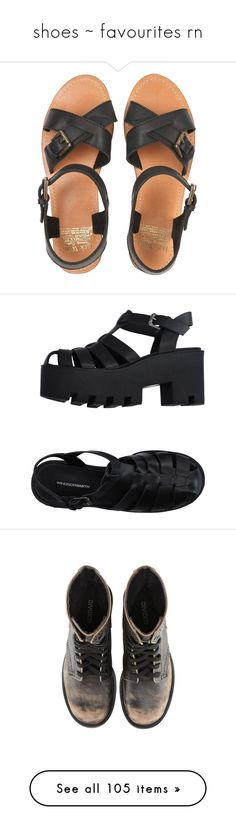 """shoes ~ favourites rn"" by fml-bianca ❤ liked on Polyvore featuring shoes, sandals, flats, black, flat heel shoes, jack wills, kohl shoes, flats black shoes, black flat shoes and round toe sandals"