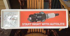 Autolite Spark Plug Lighted Shop Clock New in Original Package | eBay